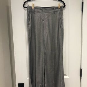 Theory wide leg grey trousers 2